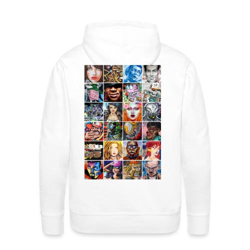 Graffiti Characters Design - Sweat-shirt à capuche Premium pour hommes