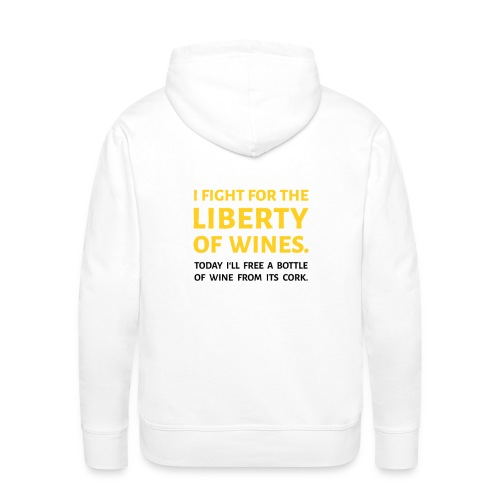 CUVEE Geekware T-shirt Liberty Of Wines - Sweat-shirt à capuche Premium pour hommes