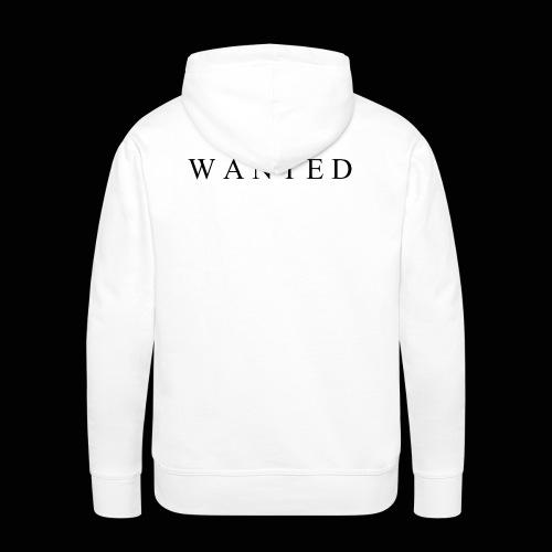 Wanted ecrit - Sweat-shirt à capuche Premium pour hommes