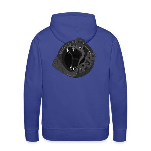 vipers logo big bw rippled png - Männer Premium Hoodie