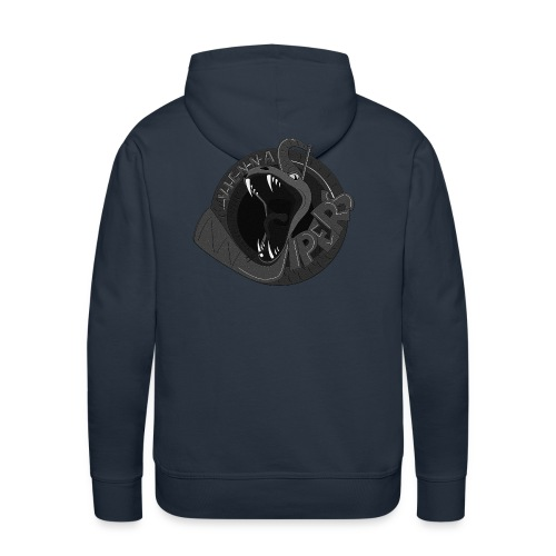 vipers logo big bw rippled png - Männer Premium Hoodie