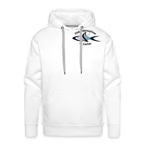 CSC Logo v2 text png - Sweat-shirt à capuche Premium pour hommes
