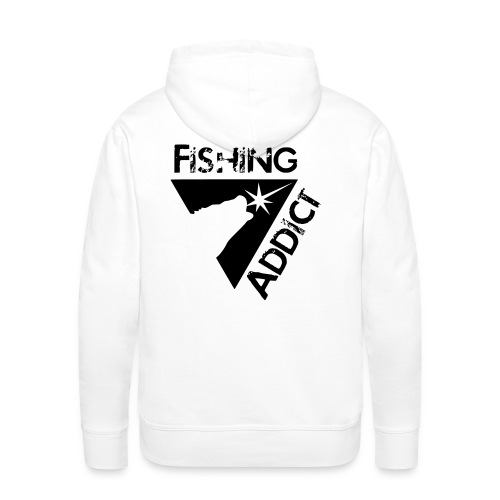 Fishing addict - Sweat-shirt à capuche Premium pour hommes