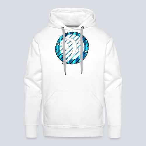BassClef blue/white - Men's Premium Hoodie
