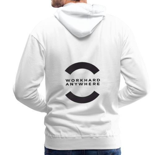 WORKHARD ANYWHERE pa hoodies back - Herre Premium hættetrøje