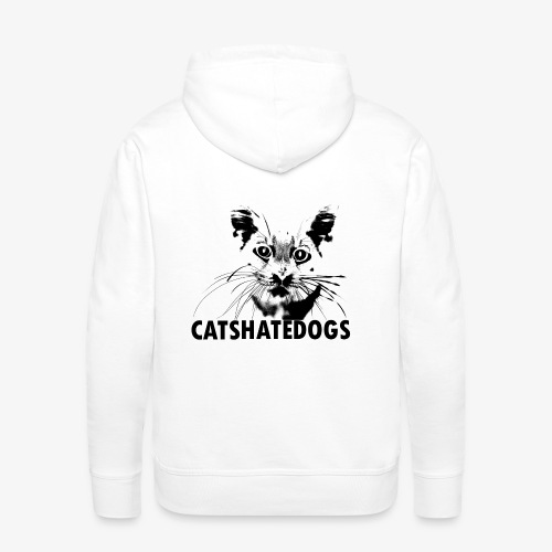 CATS HATE DOGS UNDER - Sweat-shirt à capuche Premium pour hommes
