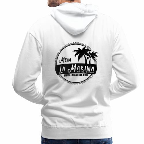 La Marina und San Fulgencio Logo in s/w - Männer Premium Hoodie