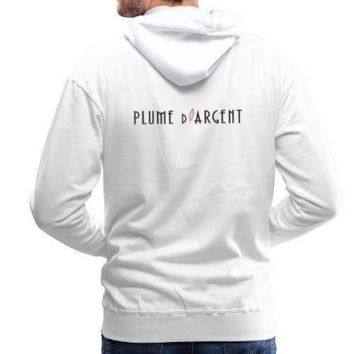 Logo - Texte noir (dos) - Sweat-shirt à capuche Premium pour hommes