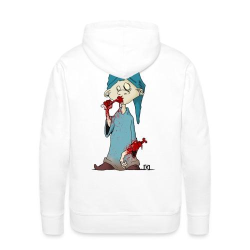 simple minded zombi - Sweat-shirt à capuche Premium pour hommes