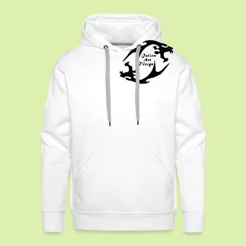snake boa serpent - Sweat-shirt à capuche Premium pour hommes