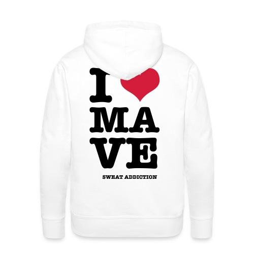 I Love Mave - Miesten premium-huppari
