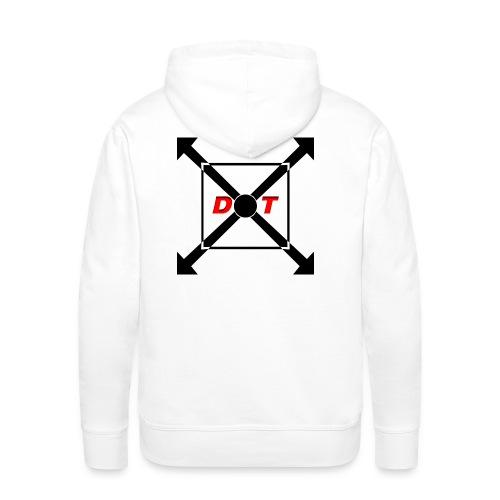 dot logo back - Men's Premium Hoodie
