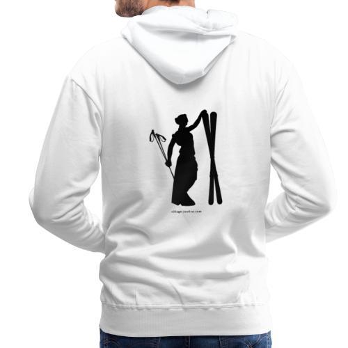 La justice au ski - Sweat-shirt à capuche Premium pour hommes