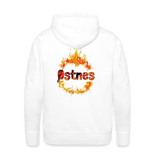 Østnes in flames - Premium hettegenser for menn