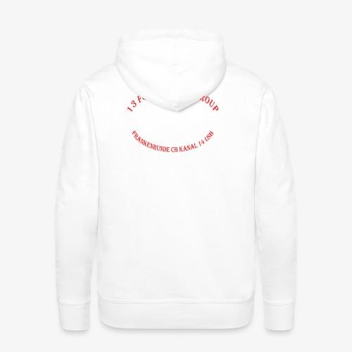 Back Logo leer - Männer Premium Hoodie
