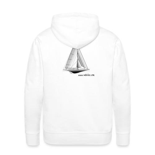 Valeila sailboat - Felpa con cappuccio premium da uomo