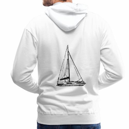 voilier - Sweat-shirt à capuche Premium pour hommes