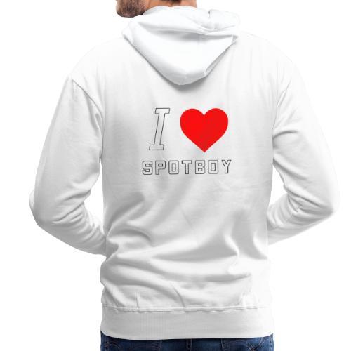 I Love Spotboy - Herre Premium hættetrøje
