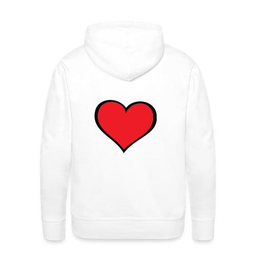 cuore - Felpa con cappuccio premium da uomo