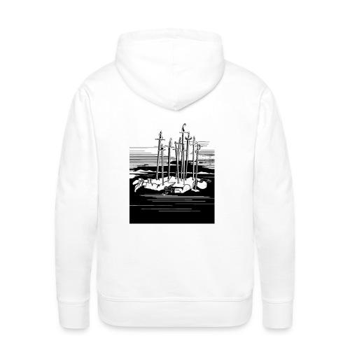 Revenge Capitalism (on white) - Men's Premium Hoodie