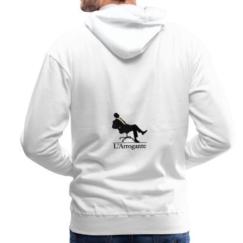 L'Arrogante Logo Ufficiale - Felpa con cappuccio premium da uomo