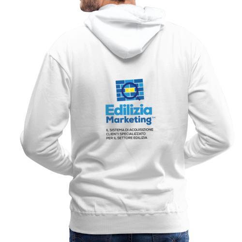 Edilizia Marketing - Felpa con cappuccio premium da uomo
