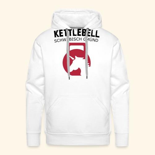 kettlebell gd schrift in pfaden - Männer Premium Hoodie