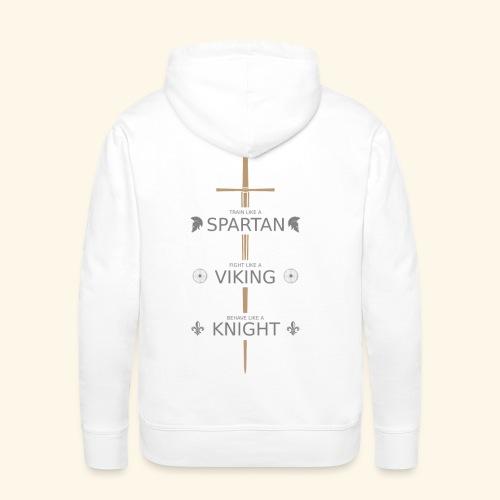 Spartan Viking Knight GRAU - Männer Premium Hoodie
