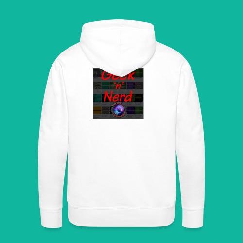 Geek n Nerd Logo jpg - Men's Premium Hoodie