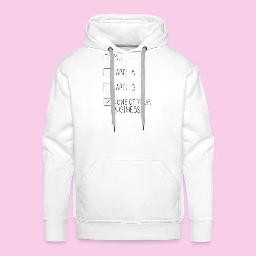 I Am... Labelless - Men's Premium Hoodie
