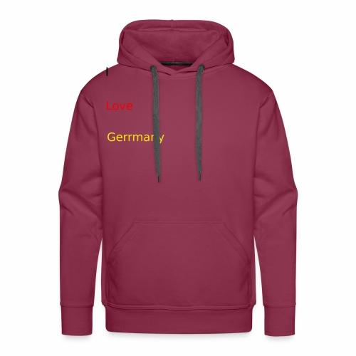 deutschland germany liebe love ich ego farbe - Männer Premium Hoodie