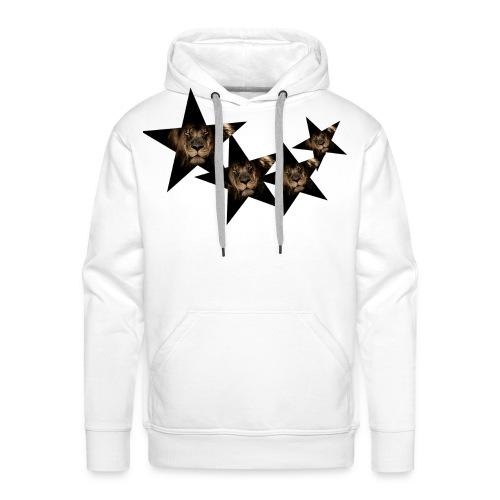 leon estrellas camiseta - Sudadera con capucha premium para hombre