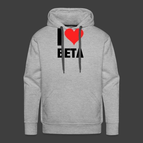 I Love Beta - Männer Premium Hoodie