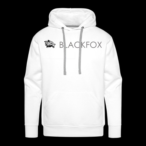 DarkFox White Collection - Felpa con cappuccio premium da uomo