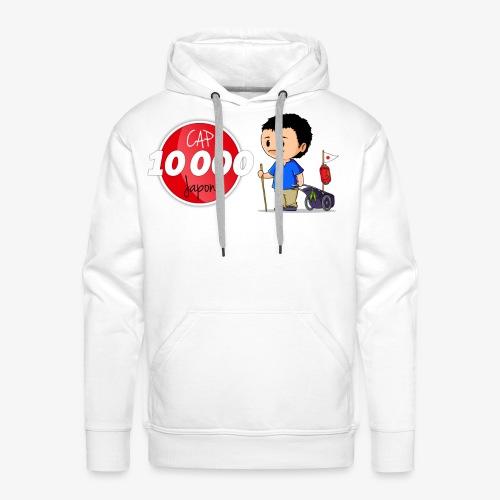 Logo Cap 10 000 Japon - Sweat-shirt à capuche Premium pour hommes