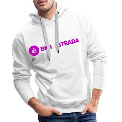 Logo_BdS bianco png - Felpa con cappuccio premium da uomo