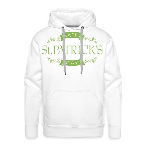 OLD SCHOOL HAPPY ST. PATRICK'S DAY - Sweat-shirt à capuche Premium pour hommes