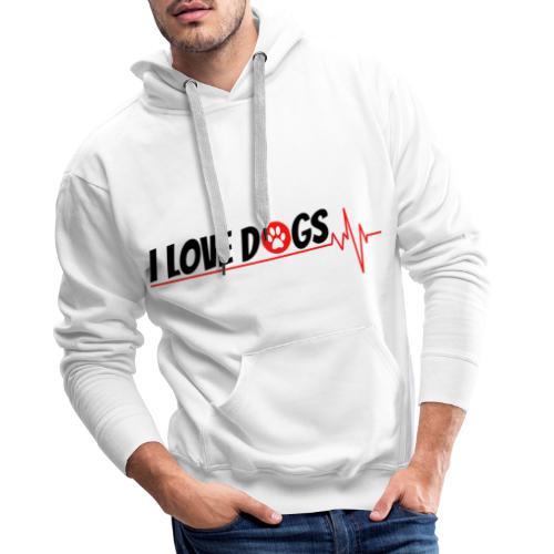 I LOVE DOGS TSHIRT - Sweat-shirt à capuche Premium pour hommes