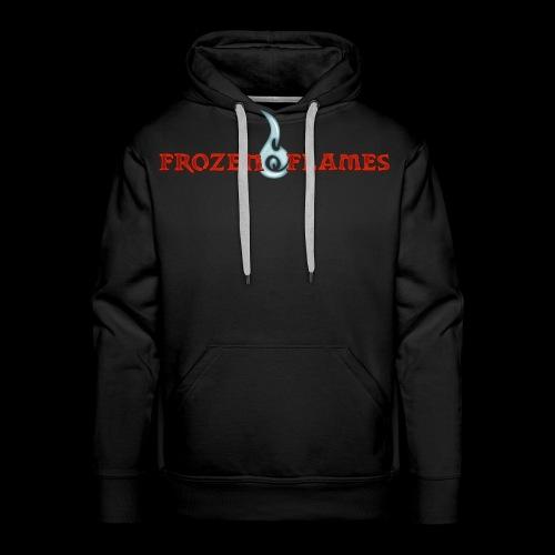 Frozen Flames Logo Schrift Pixel - Männer Premium Hoodie