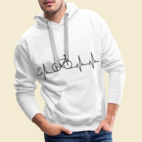 Kunstrad   Artistic Cycling   Heart Monitor Black - Männer Premium Hoodie