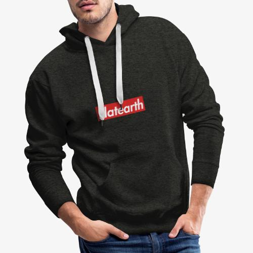 Red Flat Earth Box Logo - Men's Premium Hoodie