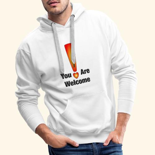 You are welcome1 - Männer Premium Hoodie