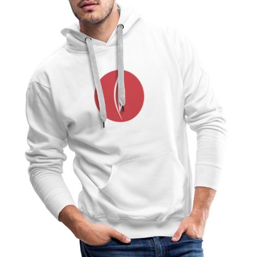 Logo - Rond rouge - Sweat-shirt à capuche Premium pour hommes