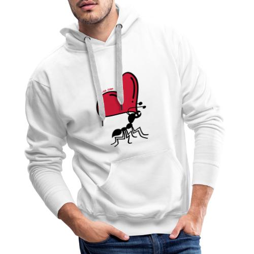 Ant Carrying the Love's Heart - Men's Premium Hoodie