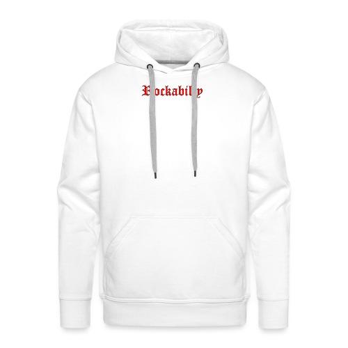 rockabilly red contour noir - Sweat-shirt à capuche Premium pour hommes