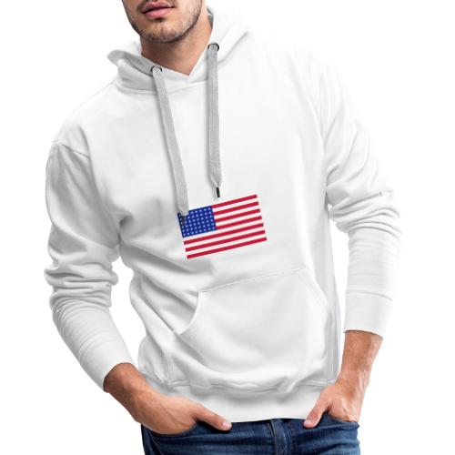 AVM 48 star flag in 3 color RGB VECTOR - Mannen Premium hoodie