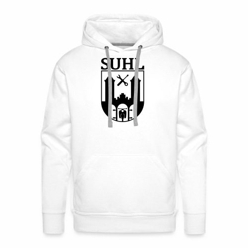Simson Suhl coat of arms with text - Men's Premium Hoodie