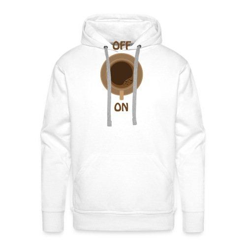 coffee on - brown cup - Männer Premium Hoodie
