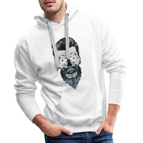 mort barbu - Sweat-shirt à capuche Premium pour hommes