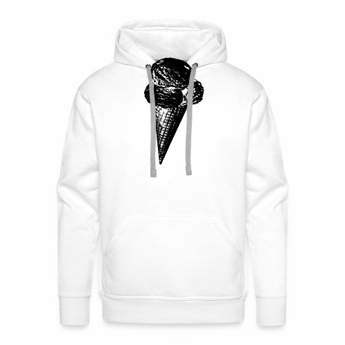 Ice Cream Graphic in black and white - Männer Premium Hoodie